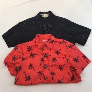 Kids combo short sleeve button shirt